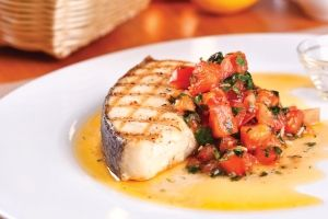 Grilled Halibut with Mango and Fennel Relish