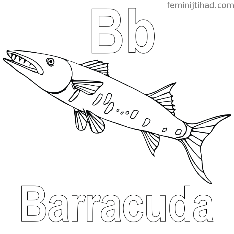 Printable Barracuda Coloring Pages Free Coloring Sheets Fish Coloring Page Animal Coloring Pages Coloring Pages