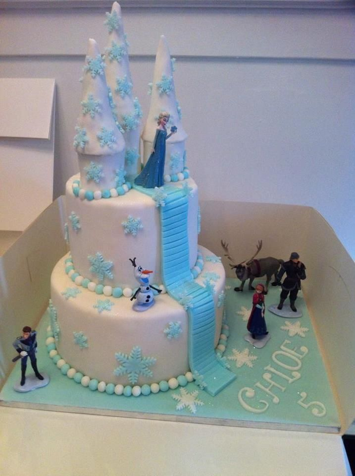 Simple Frozen Birthday Cake Frozen Castle Cake Frozen Theme Cake