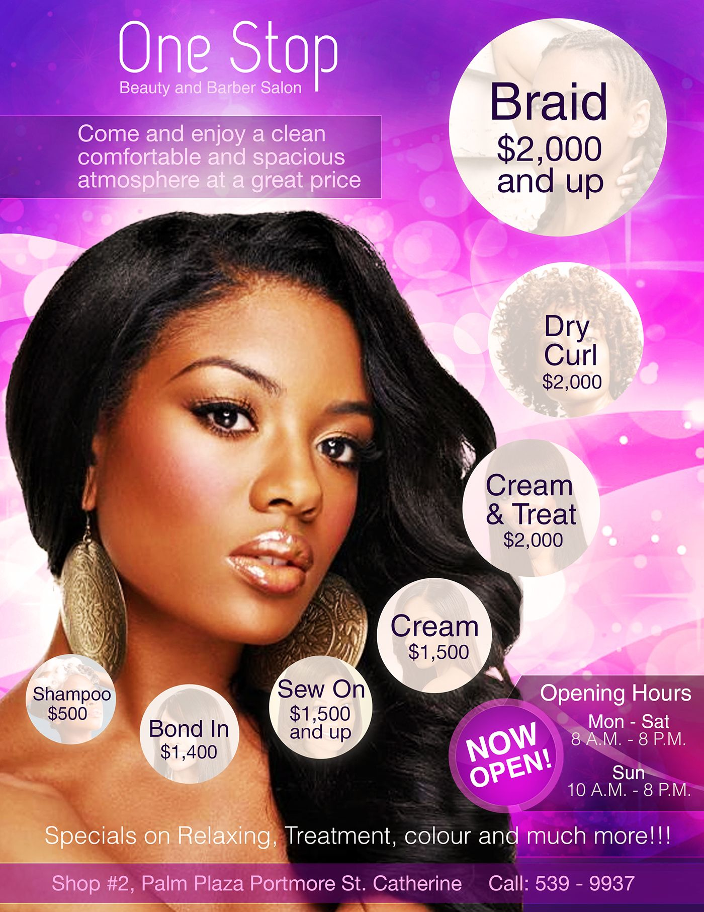 One Stop Hair Salon Flyer Design On Behance Uptown Glamour Hair