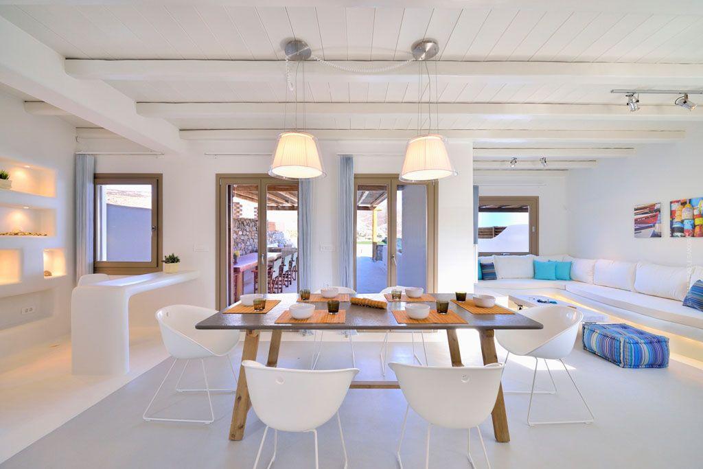 Greek Mediterranean Style Villa In Mykonos With Modern Charm European Decor House Interior Luxury Interior