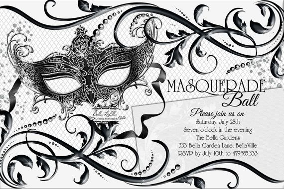 17 Best images about masquerade invitations on Pinterest ...