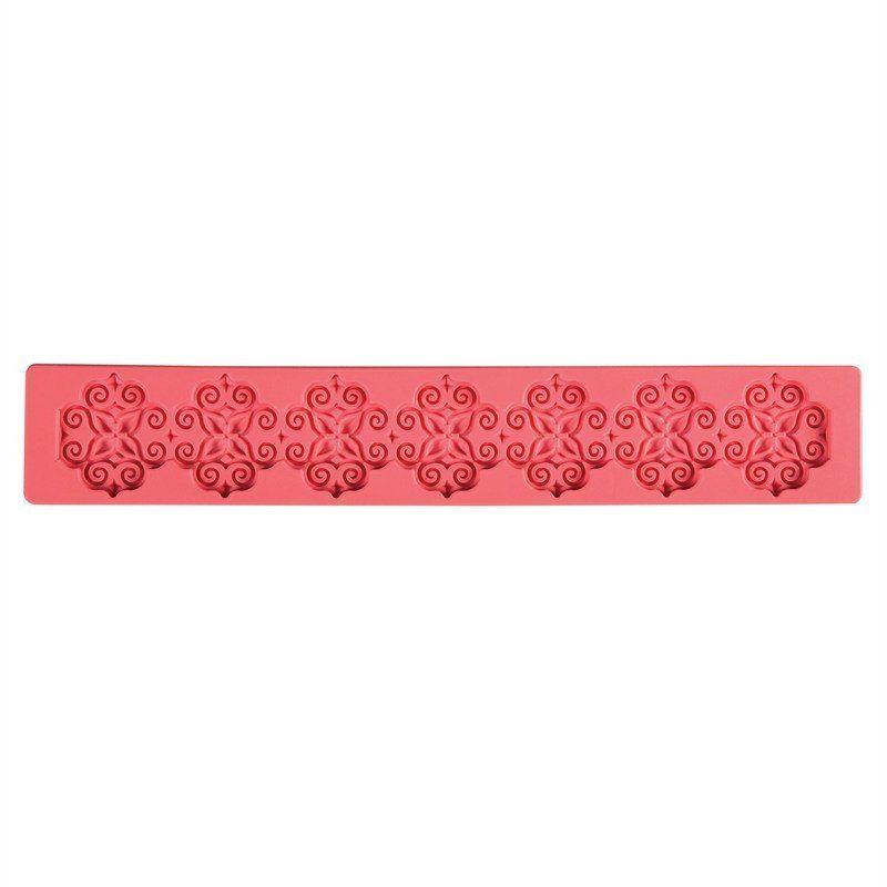 Rosen Blumen Girlanden Silikon Form Kuchen Rand Schmucksache Hochzeit Verzier*JY