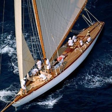 At sea