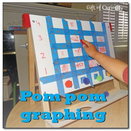 Pom pom graphing {math activity for kids | Math, Activities and Math ...