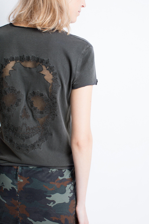 Zadig & Voltaire T-shirt à col v Bonne Vente À Vendre Bas Frais D'expédition Prix Pas Cher wfRKx