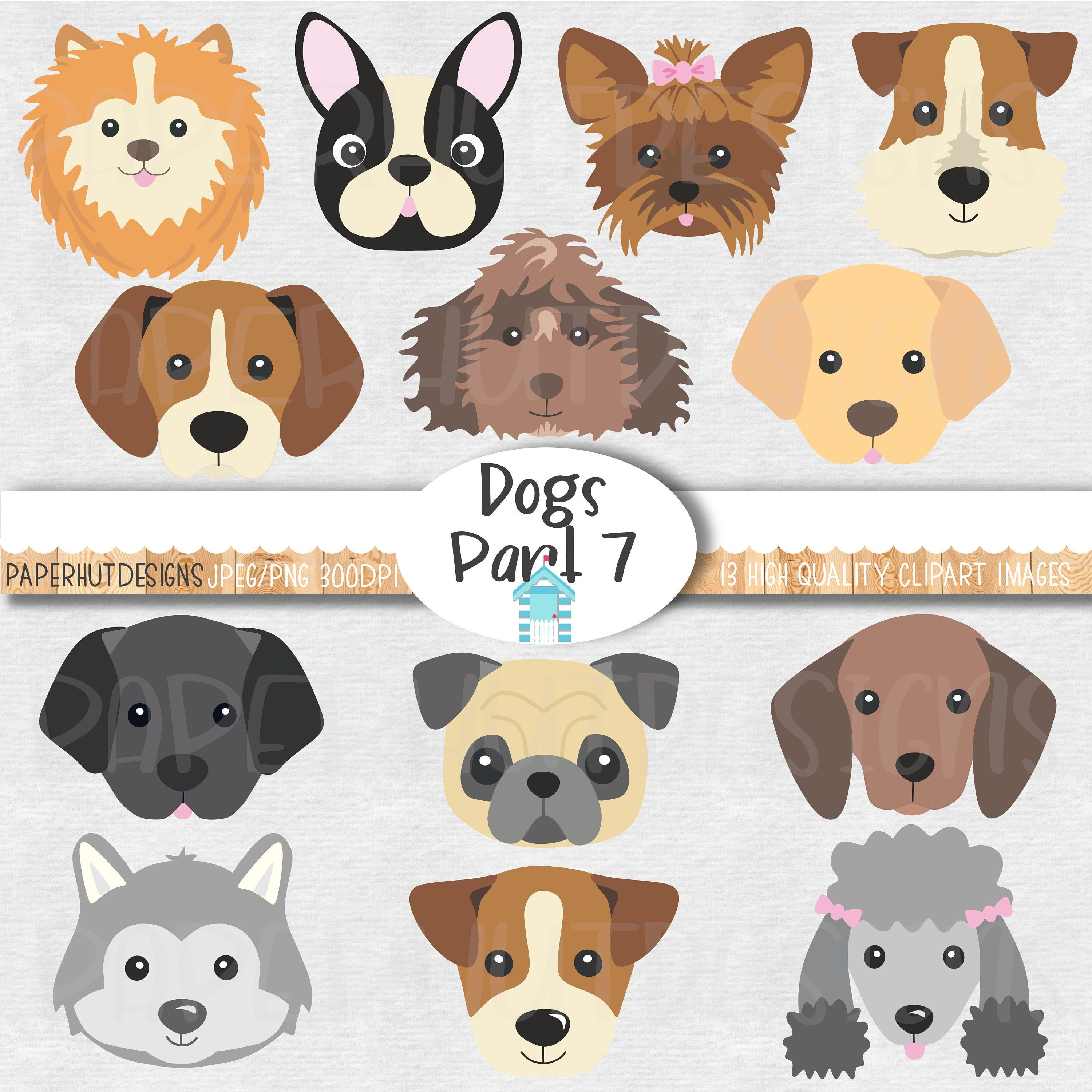 Dog Faces Clipart Cute Puppy Faces Clipart Dog Clip Art Puppy Etsy Dog Clip Art Dog Face Clip Art