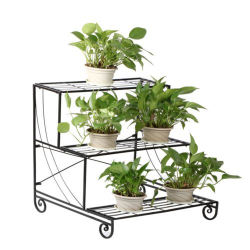 Heavy Duty Tiered Plant Stand Indoor Wrought Iron Flower Pot