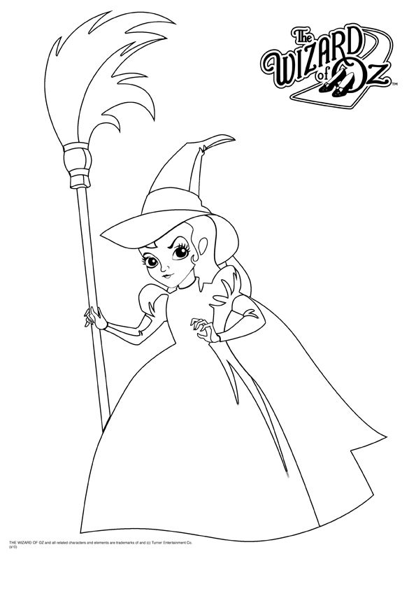 Coloring In Witch Coloring Pages Wizard Of Oz Color Coloring Pages