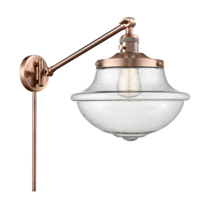 "Photo of Innovations Lighting 237 Large Oxford Large Oxford 13 ""Tall Bathroom Light Antique Copper / Seedy Indoor Lighting Bathroom Lights Bathroom Light"