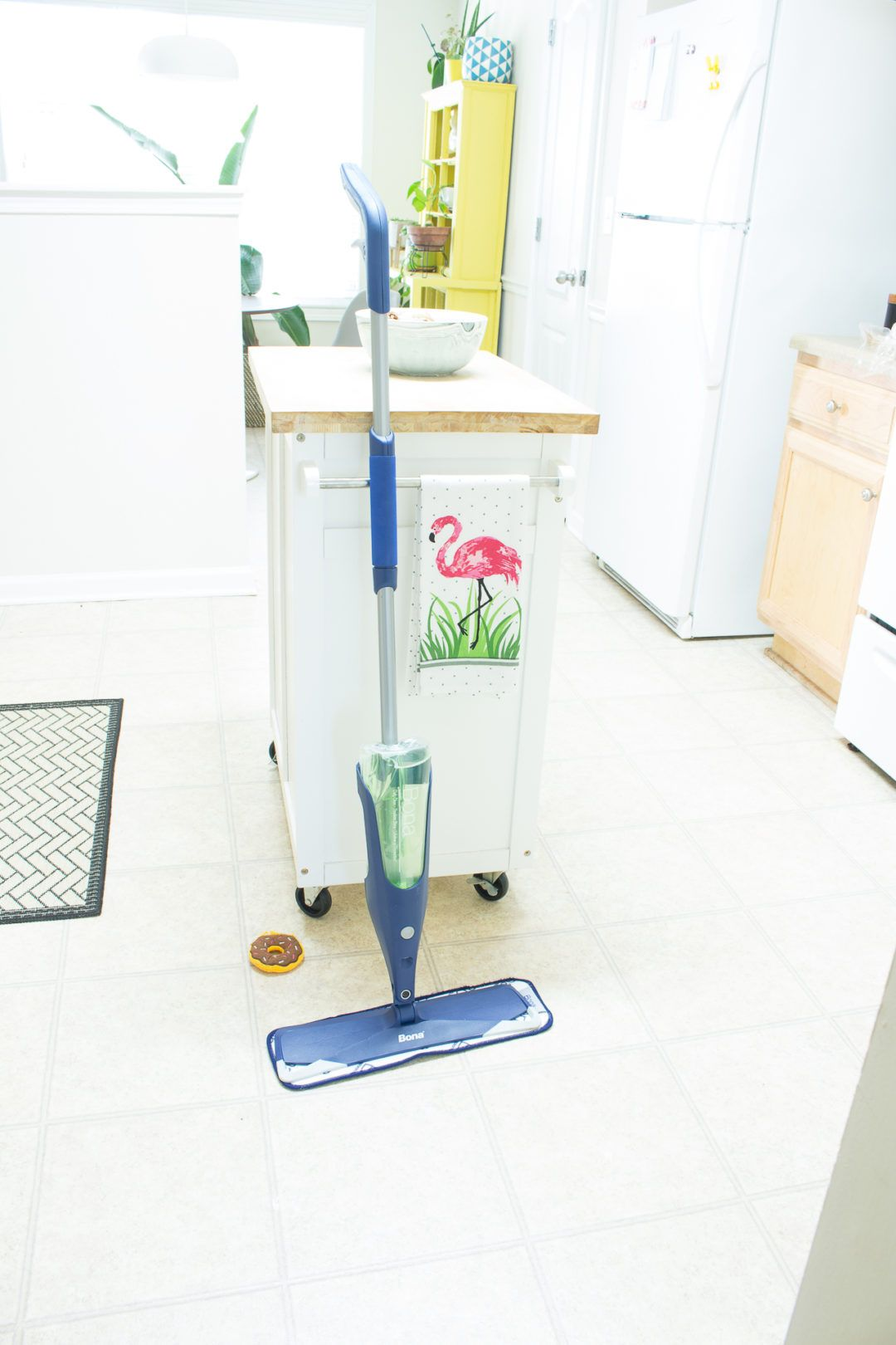 What S Better Than A Bright Clean Kitchen The Bona Premium Spray Mop For Stone Tile Laminate Floors Makes It Easy Ht Spray Mops Clean Microfiber Flooring