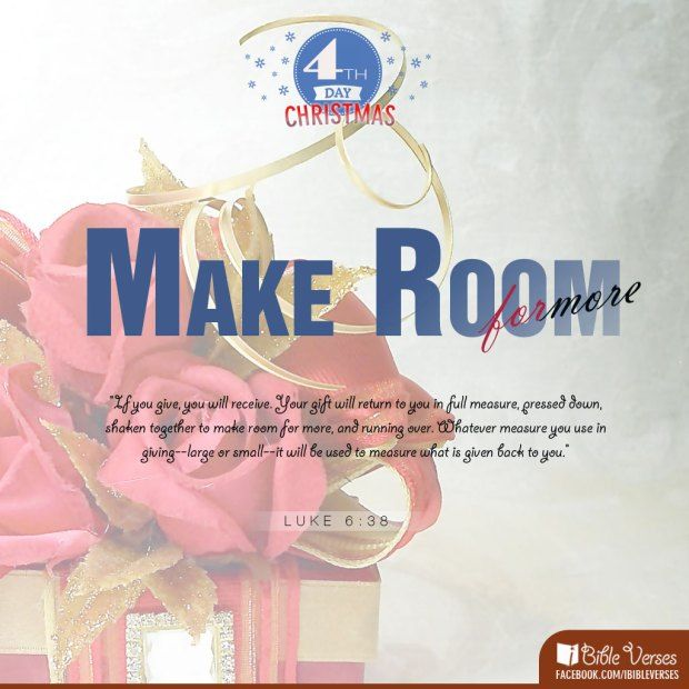 """""""If you give, you will receive. Your gift will return to you in full measure, pressed down, shaken together to make room for more, and running over. Whatever measure you use in giving–large or small–it will be used to measure what is given back to you."""" Luke 6:38 (NLT)"""