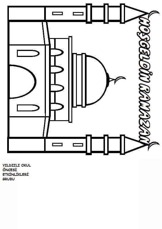 Cami Boyamaramazan Oruçetkinliğiyildizli Okul öncesi Etkinlikleri