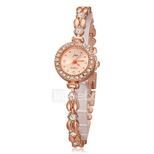 Mujer Reloj Pulsera Cuarzo La imitación de diamante Banda Caricaturas  Elegantes Dorado Oro Rosa - USD 0b28c1021970
