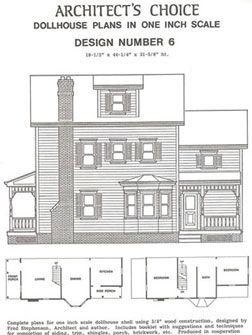 Dhm4381 Dollhouse Plan 6 Mnl1006 Doll House Plans Doll House