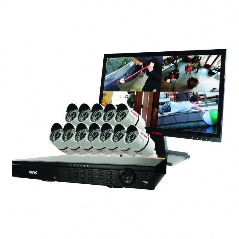 Revo THD 16 Channel DVR Home Camera System with 12