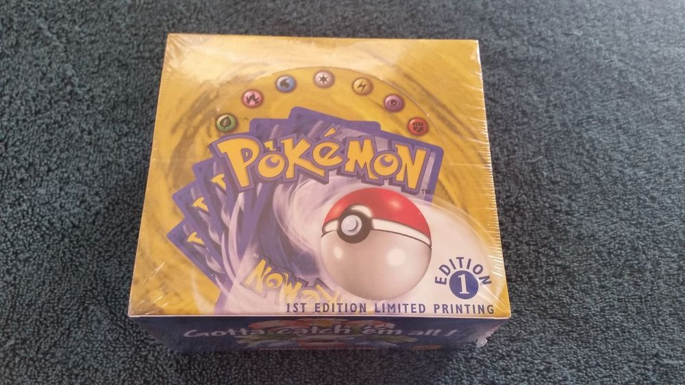 English pokemon base set 1st edition booster box factory