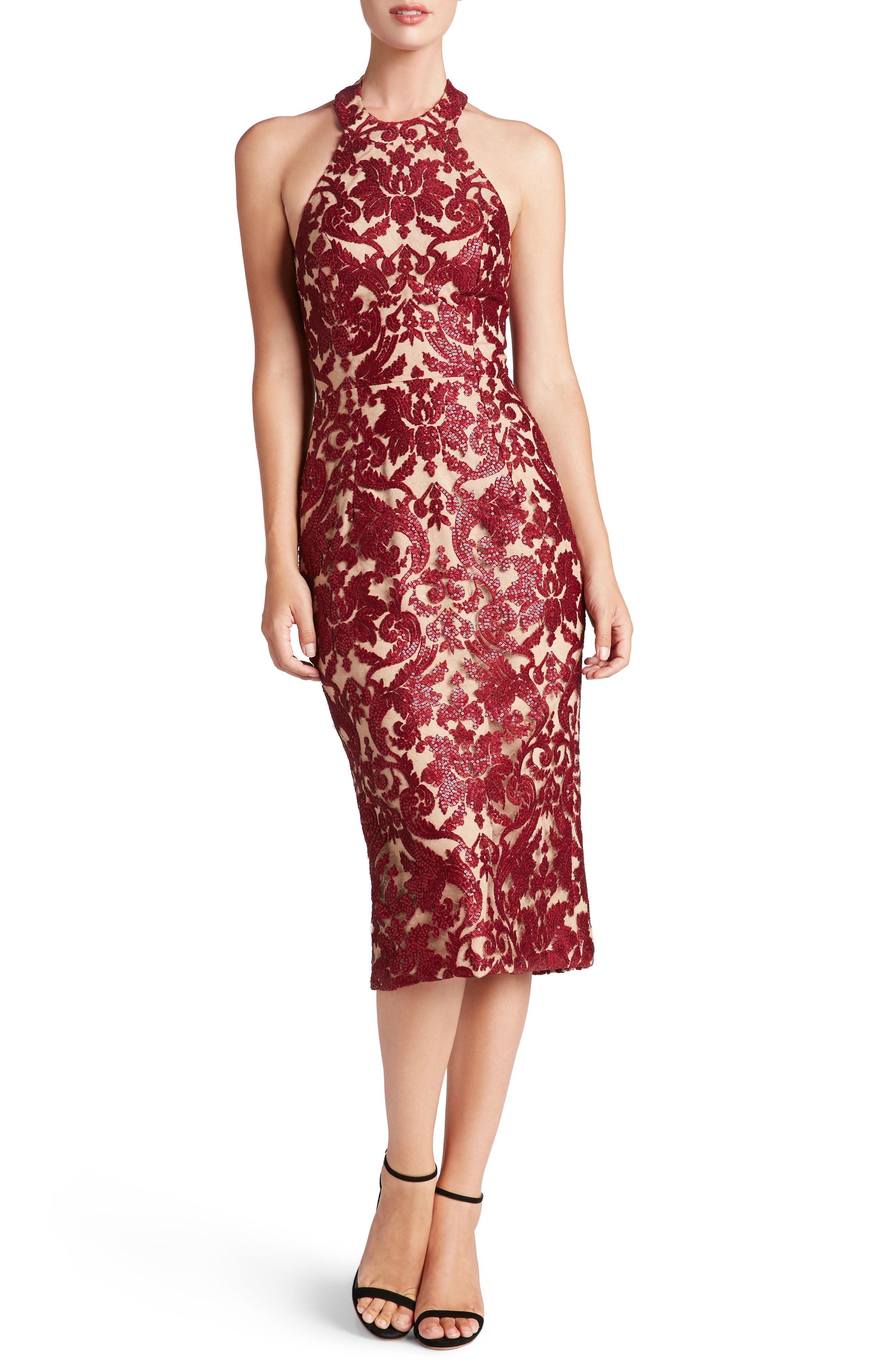 fb9b252364bb Wine colored lace midi dress -  ad -  dresses  style