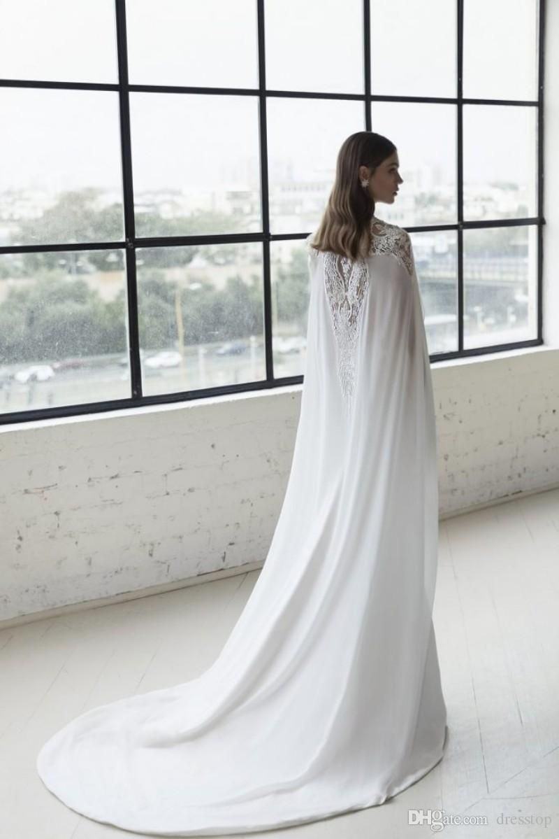 julie vino mermaid wedding dresses with cape sheer v neck beach