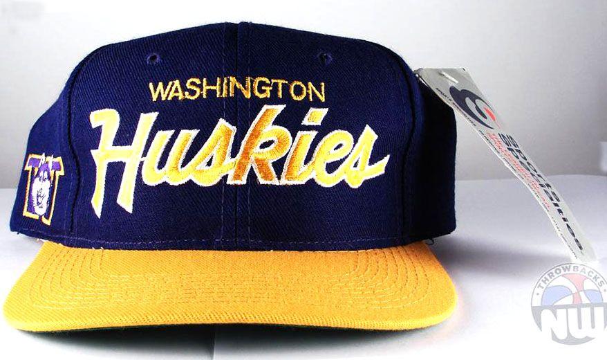 2f3fe903e University of Washington Huskies Sports Specialties Script Snapback ...