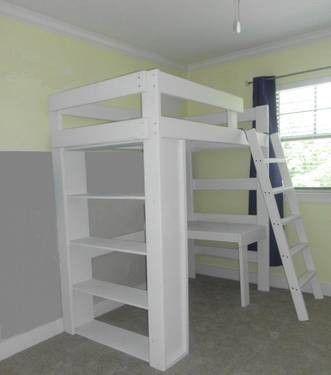 Used Tromso Ikea Twin Size Loft Bunk Bed W Desk Top Loft Bed