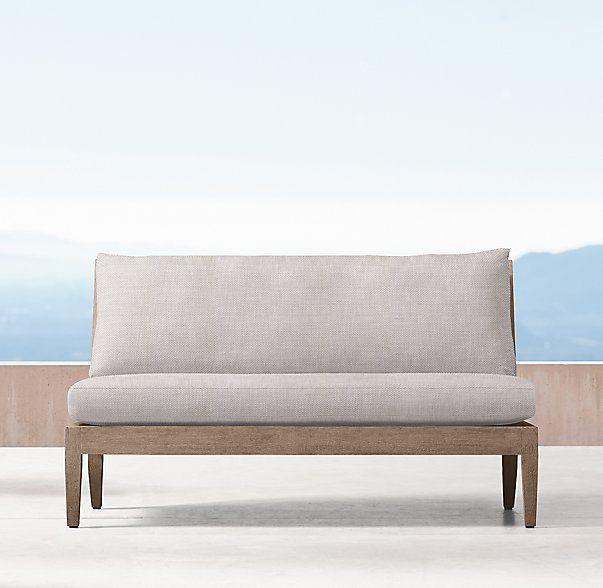 Coronado Two Seat Armless Sofa Cushions Cushions On Sofa Dining Sofa Armless Sofa
