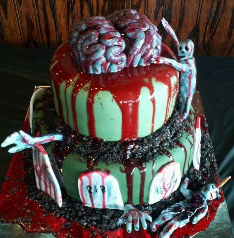 Vegan Birthday Cake on Vegan Zombie Birthday Cake By Sarah Of Sugar