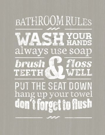 Bathroom Rules for sale at Walmart Canada  Buy Home & Pets online