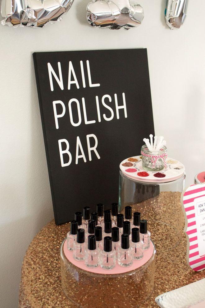 Check out this gorgeous DIY Nail Polish Bar! | Diy nail polish ...