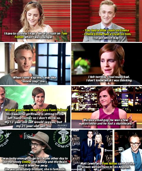 "Tom Felton and Emma Watson ""Feltson"" through the years"