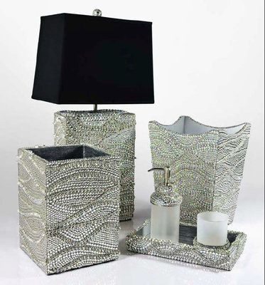 Mike & Ally Gatsby Silver Crystal Bath Collection