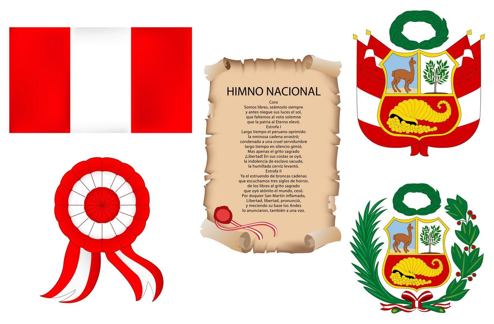 Símbolos patrios Perú para colorear y trabajar el día de la ...