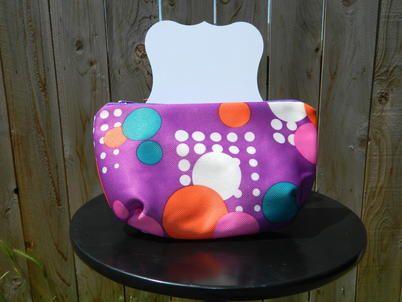 Retro Purple Zippered Bag - Anna Rankin Designs | Scott's Marketplace