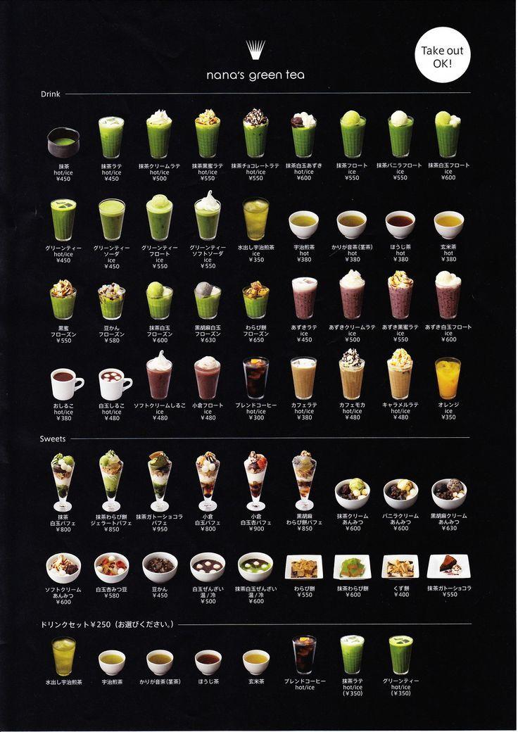 nana's green tea cafe | Bubble tea recipe, Bubble tea menu ...