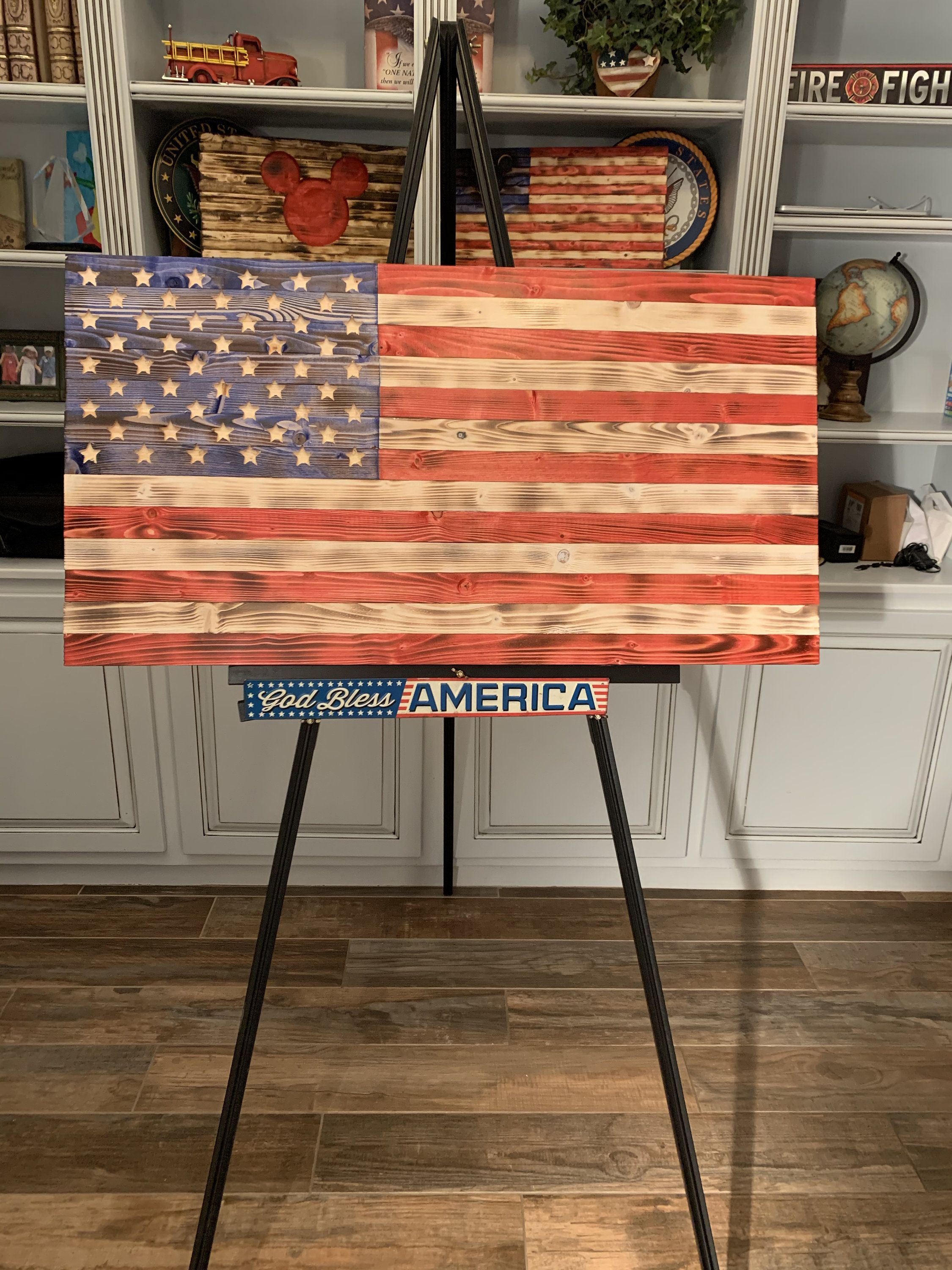 Old Glory Hand Made Wooden Flag Red White And Blue Wooden Flag Hand Torched Flag Rustic Flag Wooden Flag American Flag Wood Home Decor