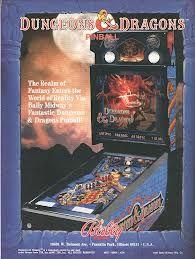 Dungeons and Dragons Pinball Machine Ad in Magazines