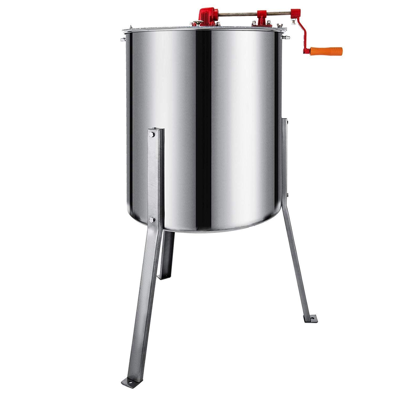 Honey Extractor 2 Frame Manual 304 Stainless Steel Drum Beekeeping Equipment