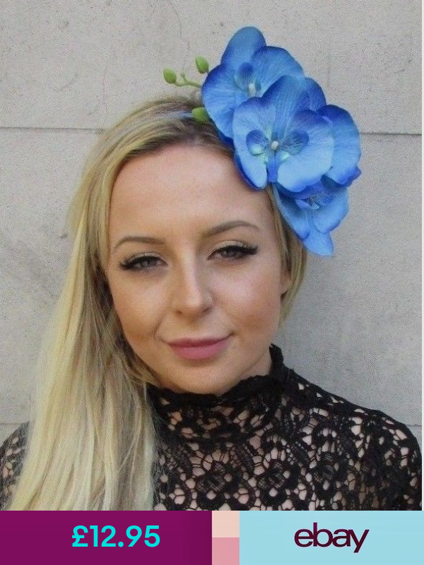 Starcrossed Beauty Fascinators Clothes Shoes Accessories Blue Orchid Flower Fascinator Flower Fascinator
