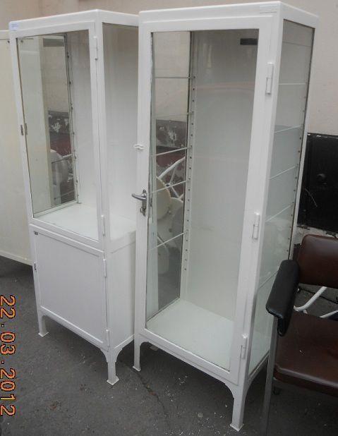vintage iIndustrial French hospital medicine cabinet 1940s #379 ...
