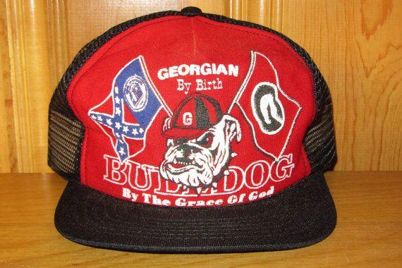 GEORGIA BULLDOGS Original Vintage 80s  Georgian By by HatsForward ... d0a6e52adf6