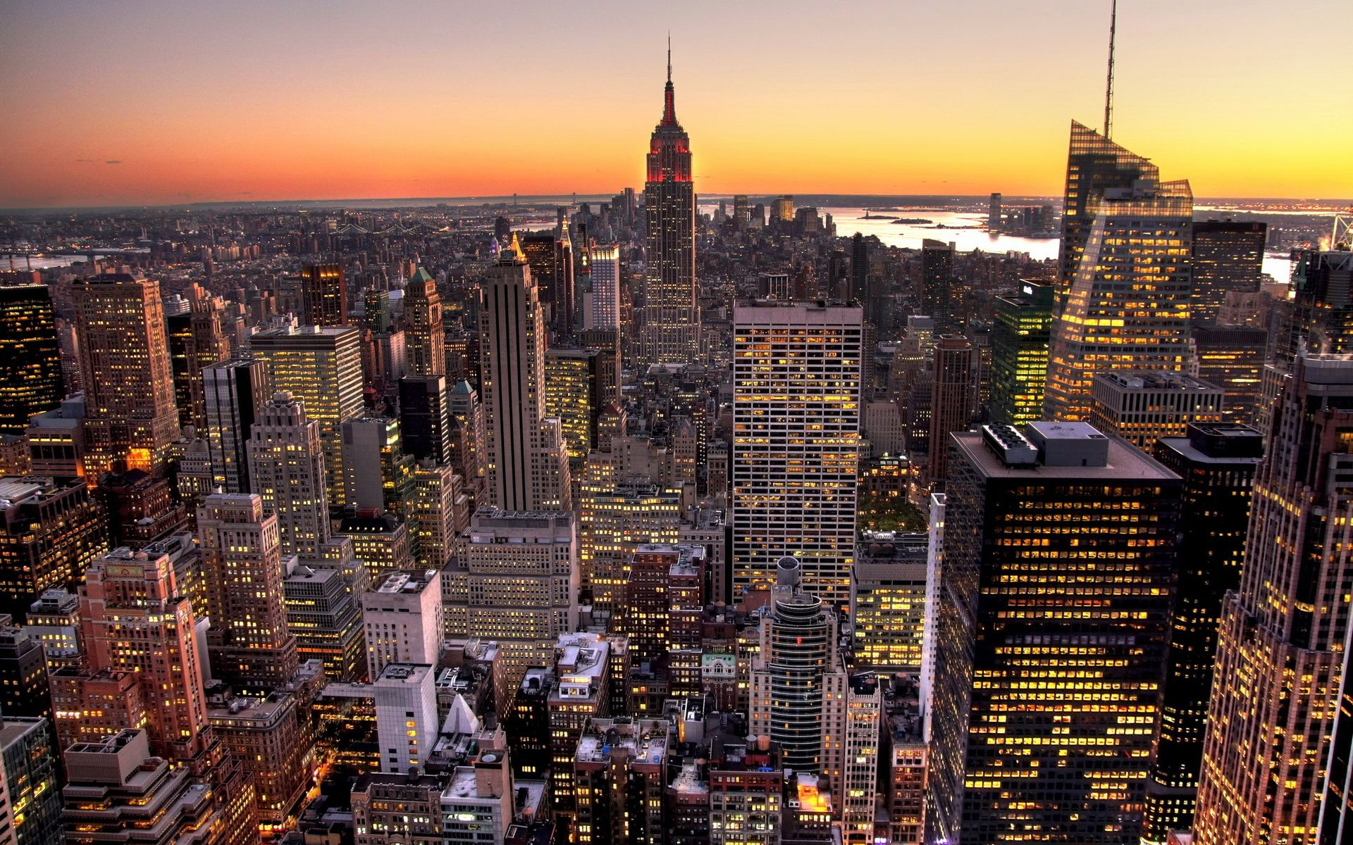 Обои skyline, new, manhattan, york. Города foto 6