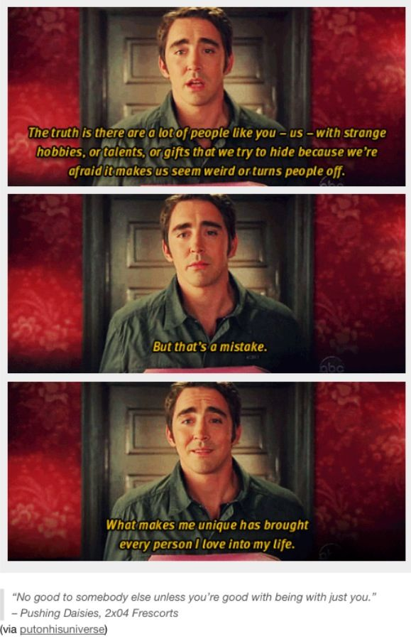 Such a good quote from Ned the Pie Maker - Pushing Daisies <3