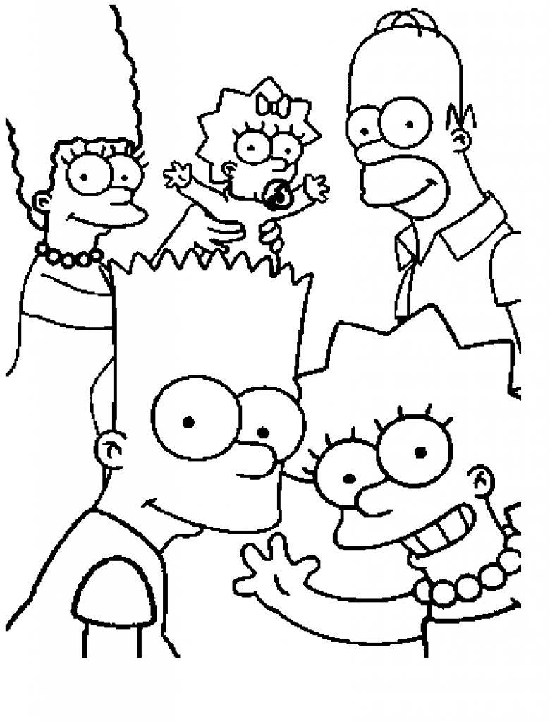 Die Simpsons 21 Ausmalbilder | Auto Hd Wallpapers | Pinterest