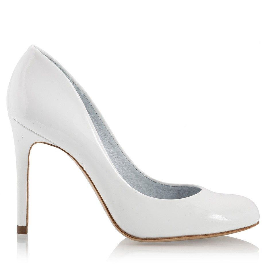 Pedro Garcia BRIGITTE White patent leather high heel pumps ...