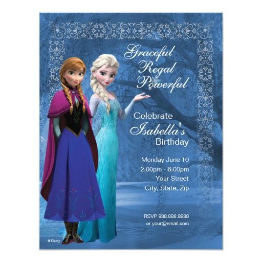 Frozen anna and elsa snowflake birthday invitation 425 x 55 frozen anna and elsa snowflake birthday invitations perfect for your daughters frozen theme birthday party stopboris Gallery