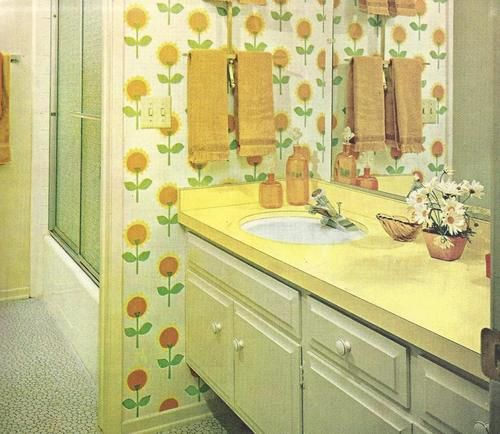 1960s bathroom design | 70s decor, Vintage bathrooms ...