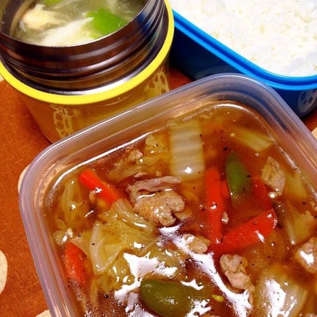 1/6 本日のお弁当:◯中華丼◯えのきのとろりん玉子スープ  2015初のお弁当は恐ろしく手抜きww - 6件のもぐもぐ - おべんと。 by aiiwahlpmsawiia