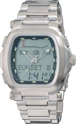 Reactor Graviton World Tide Men's Watch - Bracelet - Stainless - Silver Lcd - Dual Mode - 89001
