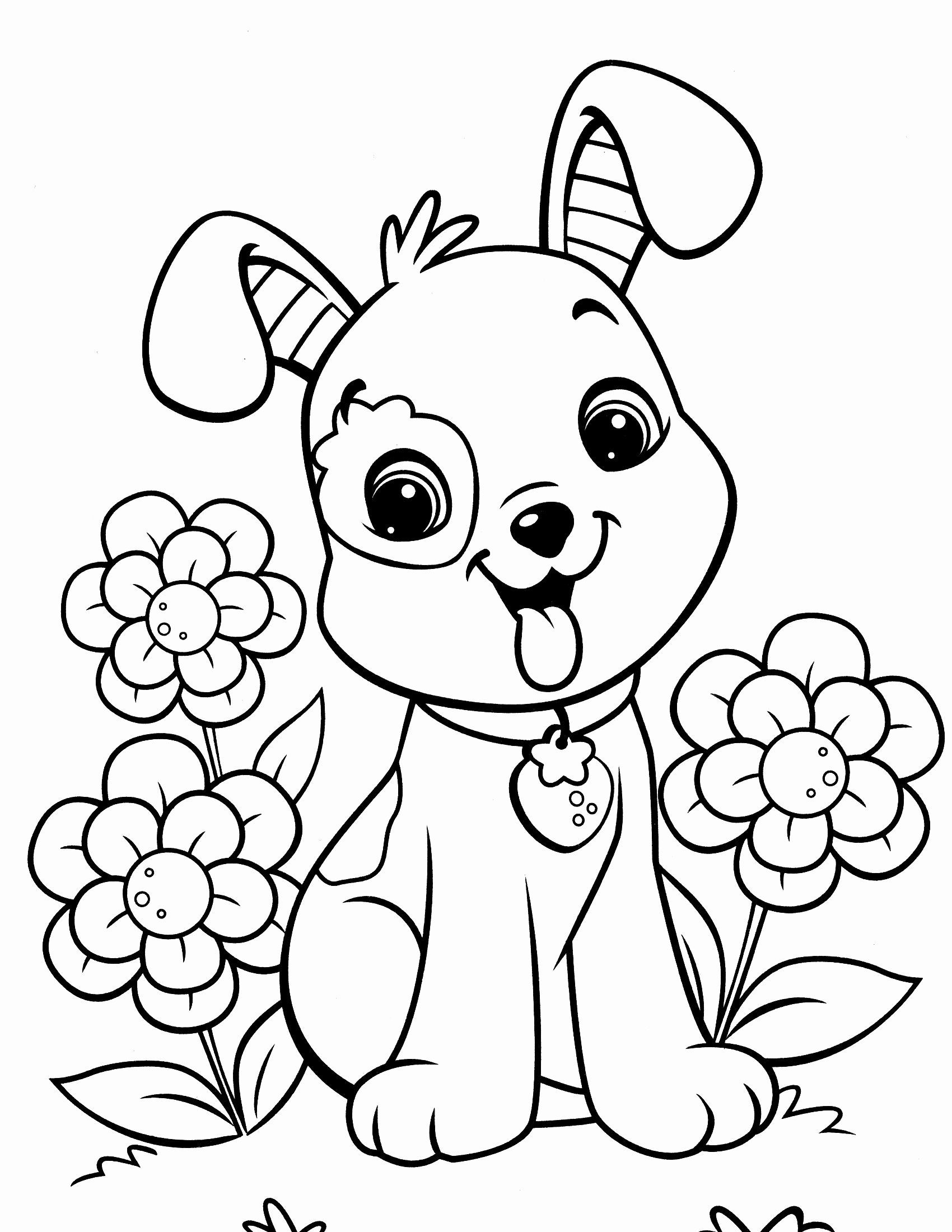 Coloring Pages Christmas Printable Free Beautiful Christmas Puppy