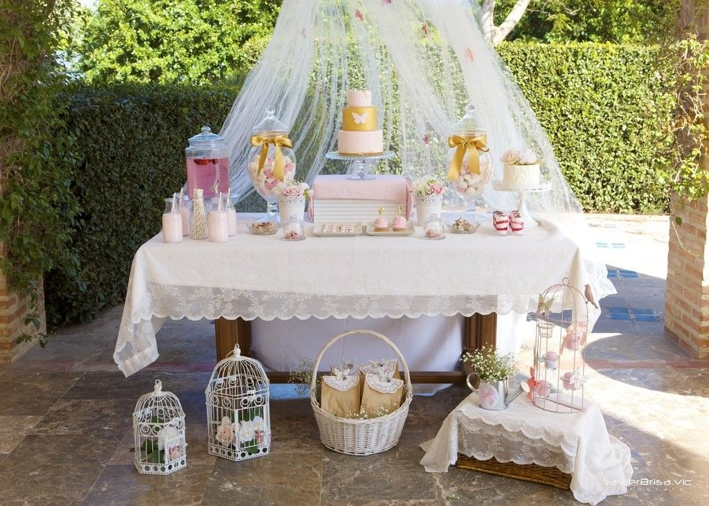 Mesas dulces para comuni n en valencia shabby chic candy - Decoracion shabby chic ...